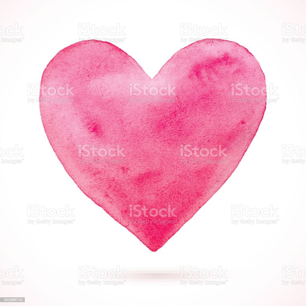 Heart-Pink-simple vector art illustration