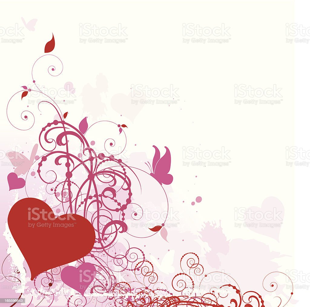 Hearts and Butterfly Scrolls royalty-free hearts and butterfly scrolls stock vector art & more images of abstract