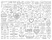 istock Hearts and design elements for Valentine's Day 1263880725