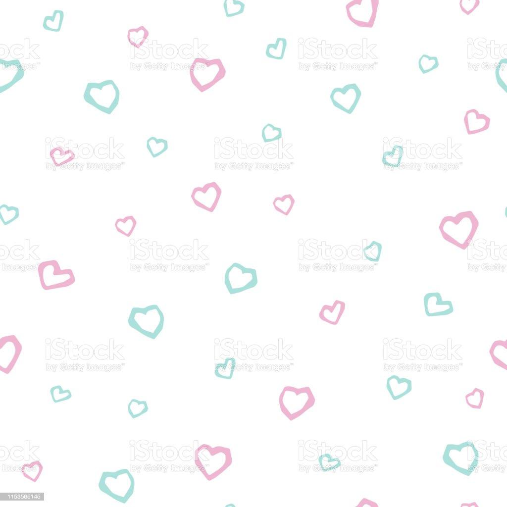 ハート赤ちゃんかわいいシームレスなパターン保育園壁紙t シャツキッズ