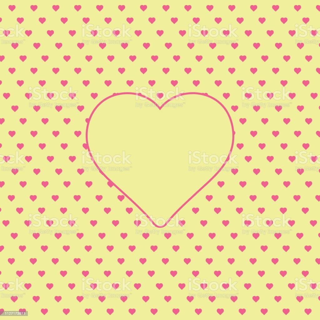 テキストの心の背景 愛パターン ベクトル聖バレンタイン ハート壁紙