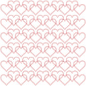 Pink hearts patterns