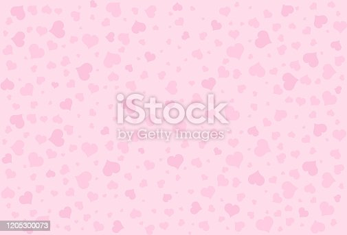 Hearts pattern on a pink background.