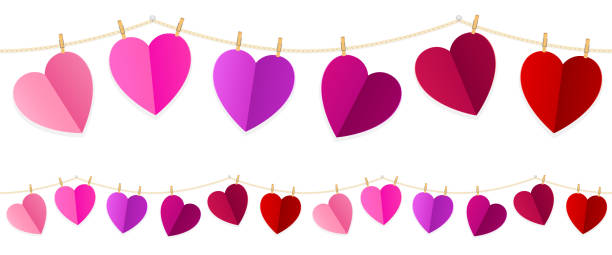 Best String Of Hearts Illustrations, Royalty-Free Vector ...