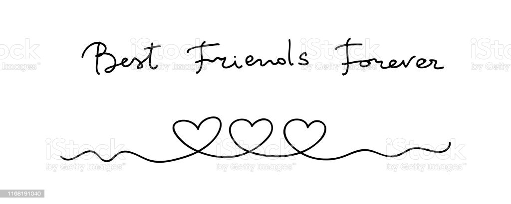 Hearts Continuous Line Art Drawing Friendship Concept Best