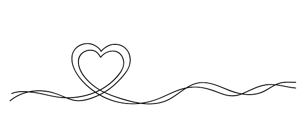 Download Hearts Continuous Line Art Drawing Mother And Child Love ...
