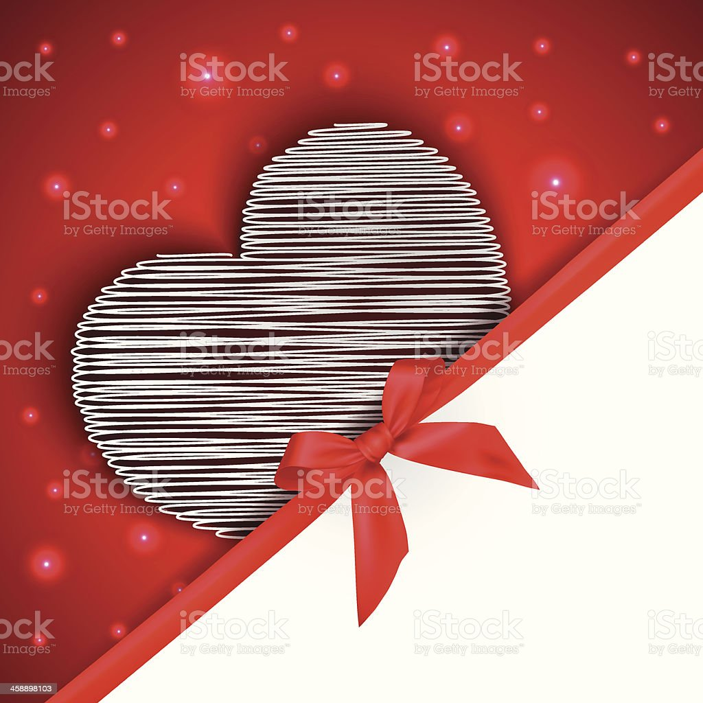 hearts gift greeting card royalty-free stock vector art