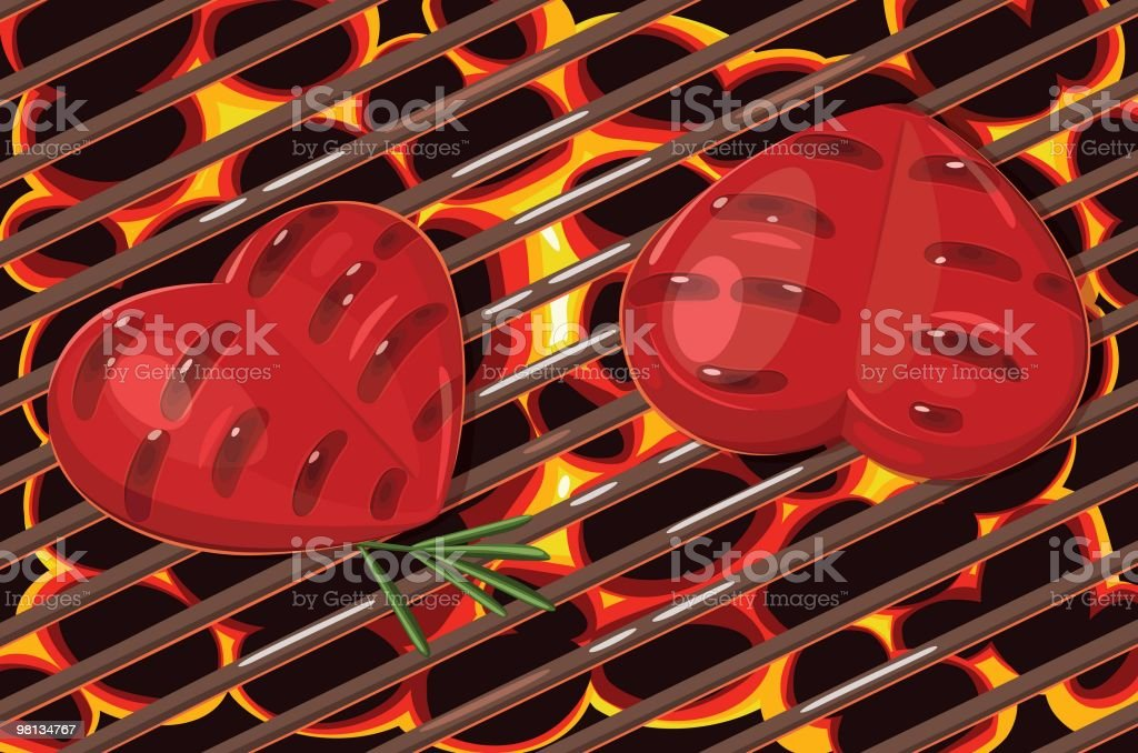 Hearts grilled royalty-free hearts grilled stock vector art & more images of barbecue grill