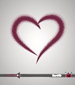 istock Hearts. Grunge stamps collection.love Shapes for your element design. Distressed symbols. Textured Valentine's Day signs.Vector illustration. Halftone point, dot, pixel. 691902704