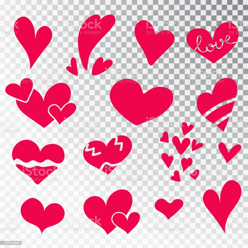 Royalty Free Crayon Drawn Heart Clip Art Vector Images