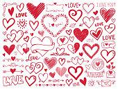 istock Hearts. Hand-drawn design elements 1263601623