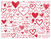 istock Hearts. Hand-drawn design elements 1263601623