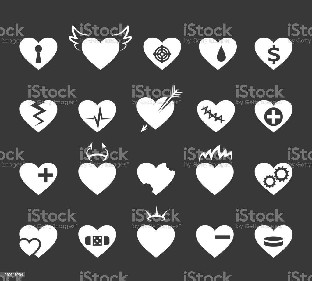 Ilustración de Iconos De Corazones Corazón Sano Y Amor Señales De ... 1bf40517a0ac2