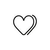 Hearts line icon