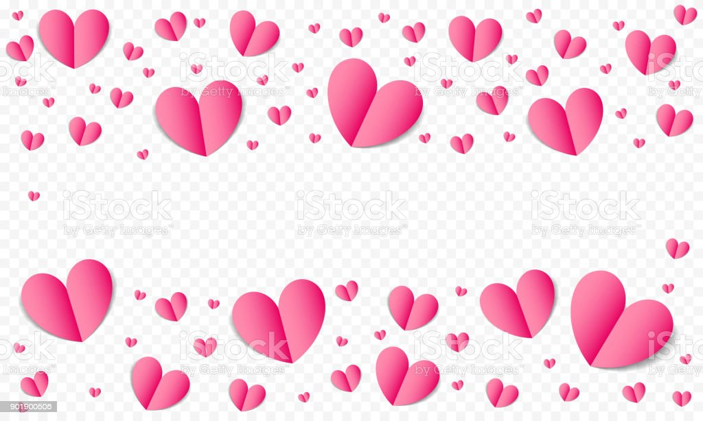 Hearts Pattern Background For Valentines Day Save The Date Wedding Greeting Card Or Invitation Design