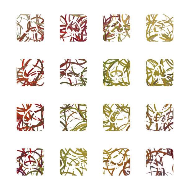 herz-muster-tasten-kollektion - palmenherzen stock-grafiken, -clipart, -cartoons und -symbole