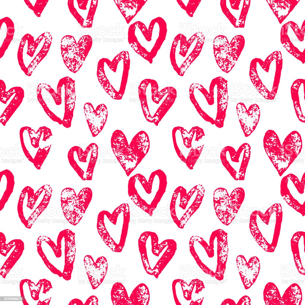 hearts pattern red icons for valentine day art いたずら書きの