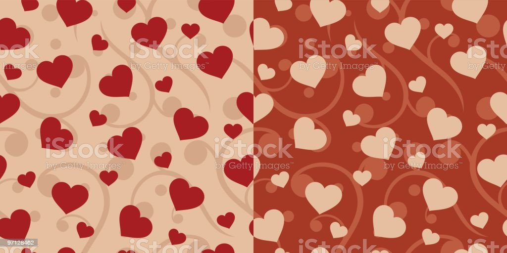 Hearts seamless backgrounds royalty-free hearts seamless backgrounds stock vector art & more images of antique