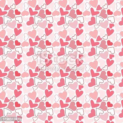 istock Hearts seamless pattern 1198541939