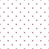 istock Hearts seamless pattern 1198784356