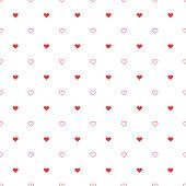 Hearts seamless pattern,vector illustration. EPS 10.