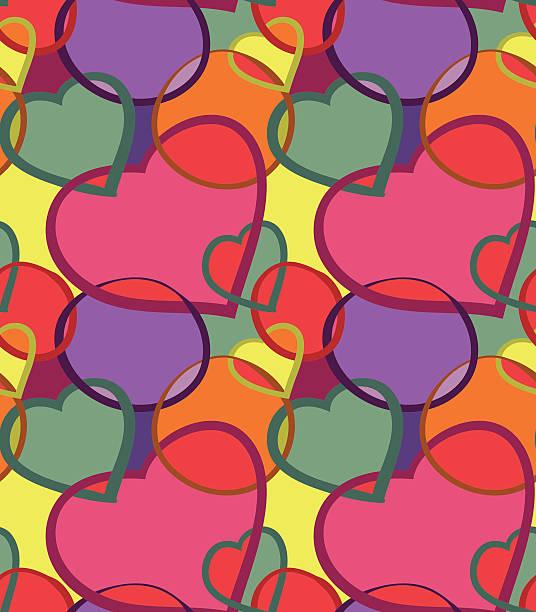 Hearts seamless vector art illustration