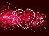 valentine's day glittering particles background