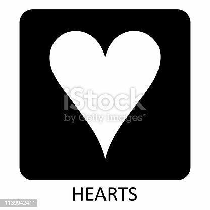 istock Hearts suit icon illustration 1139942411