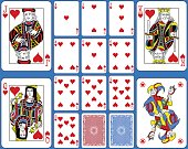 Hearts Suite Playing Cards French Style