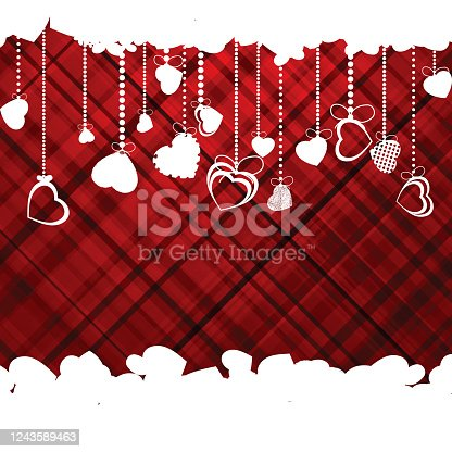 Hearts Valentine's day or Wedding template. EPS 8 vector file included