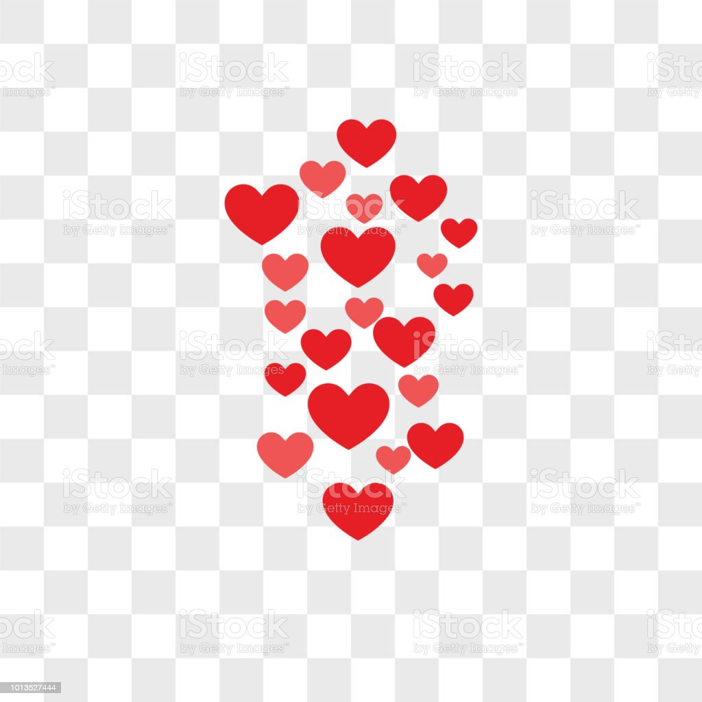 Hearts Vector Icon On Transparent Background Hearts Icon Stock Illustration  - Download Image Now