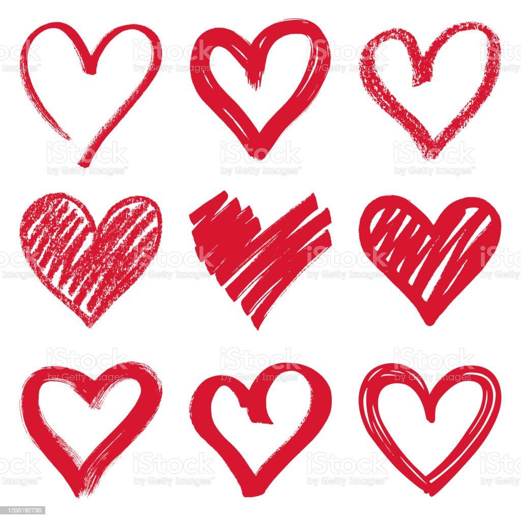 Herzen - Lizenzfrei Biegung Vektorgrafik