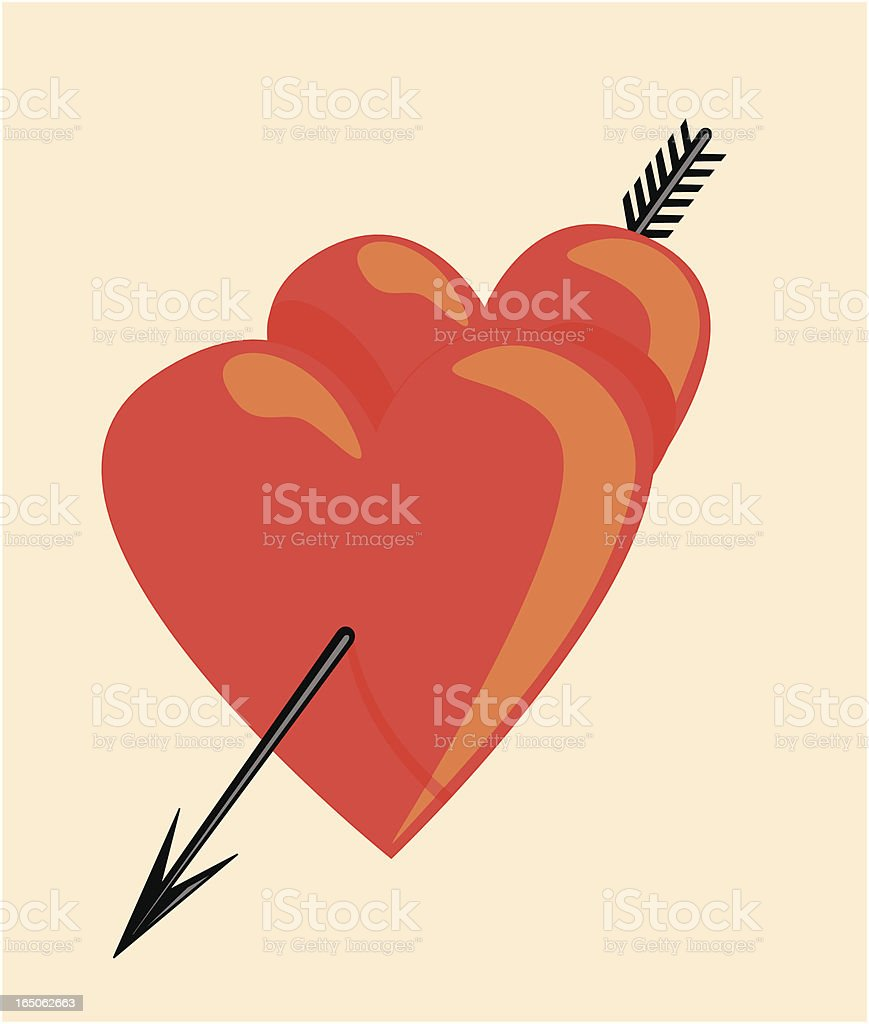 Hearts royalty-free hearts stock vector art & more images of arrow - bow and arrow