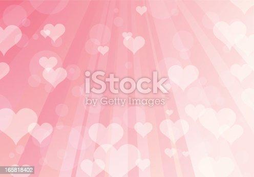horizontal Valentine's background