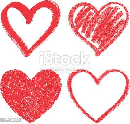 Four hearts, design elements
