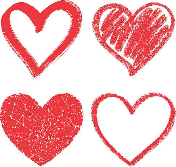 ilustraciones, imágenes clip art, dibujos animados e iconos de stock de corazones - marcos de garabatos y dibujados a mano