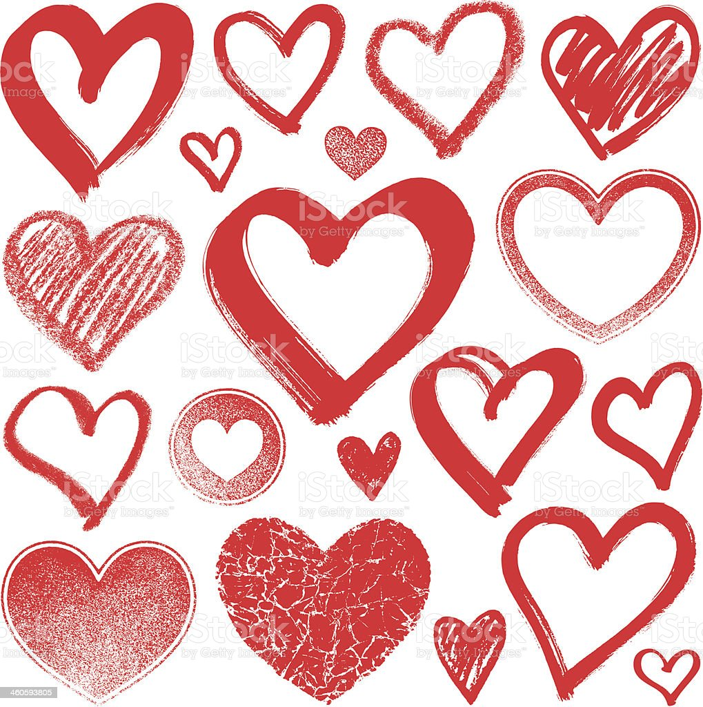 Hearts royalty-free hearts stock illustration - download image now