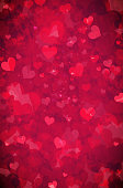 Grunge hearts background. EPS10 vector illustration, global colors, easy to modify.