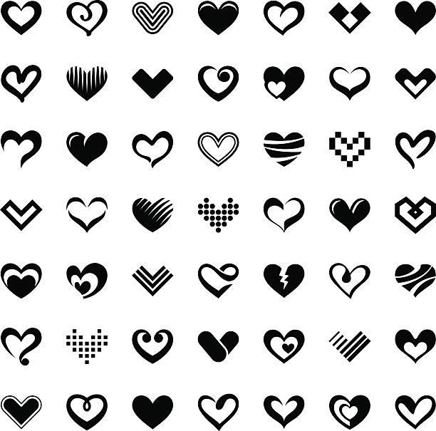 Royalty Free Half Heart Clip Art, Vector Images ...