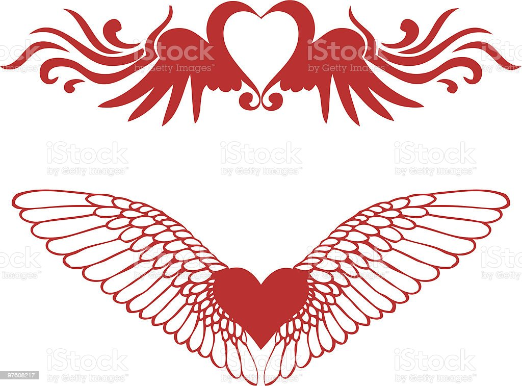 hearts with wings royalty-free hearts with wings stock vector art & more images of abstract