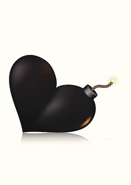 bildbanksillustrationer, clip art samt tecknat material och ikoner med heart-shape bomb icon - balpress
