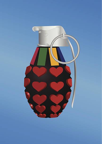 bildbanksillustrationer, clip art samt tecknat material och ikoner med heart-shape grenade icon - balpress