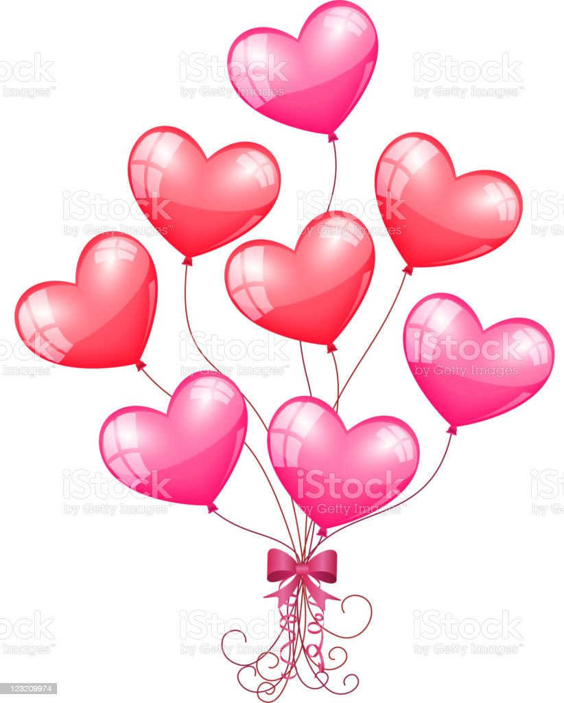 Heartshaped balloons stock vector art amp more images of balloon 123209974 istock