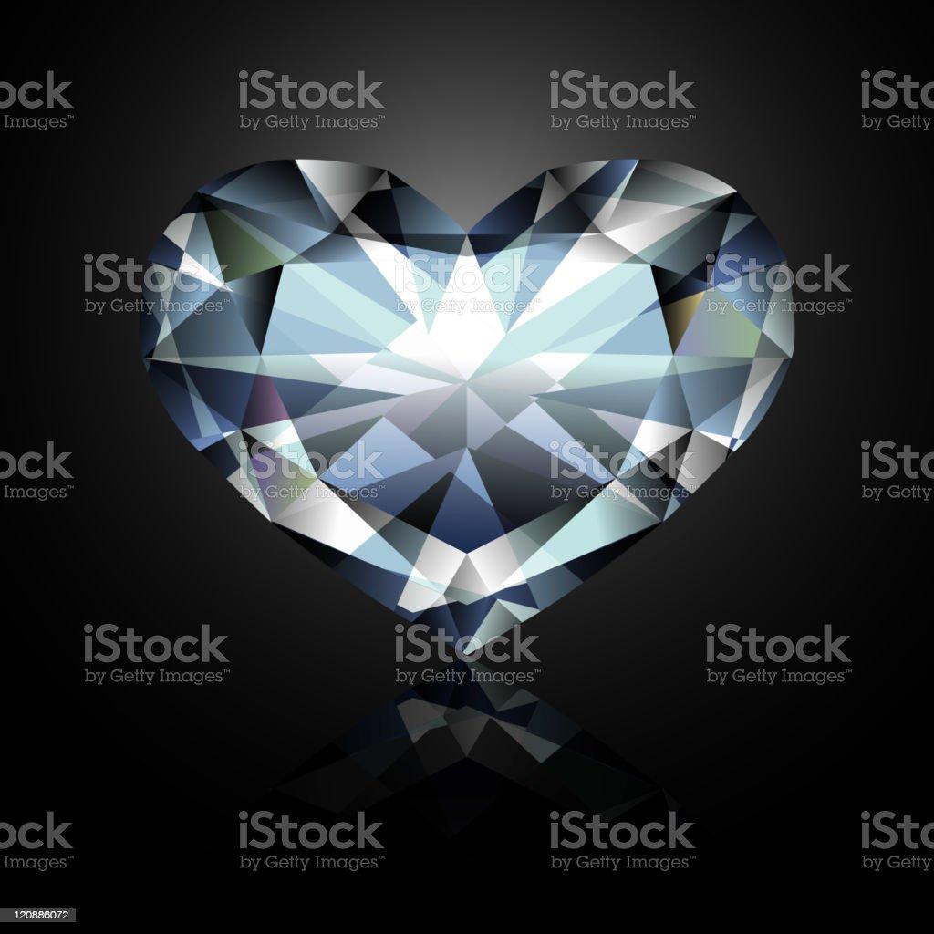 Heart-shaped diamond royalty-free stock vector art