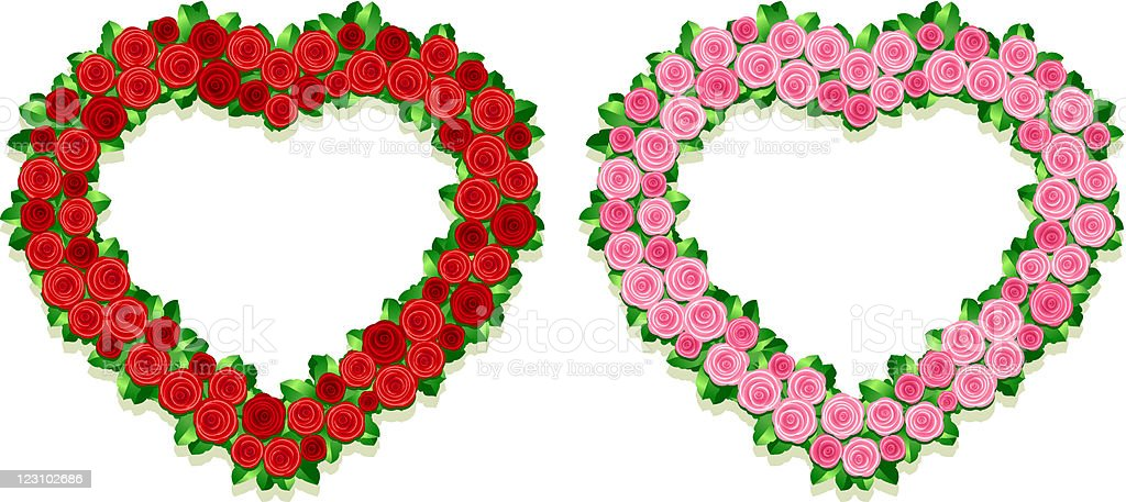 Heartshaped Flower Frames Stock Vector Art & More Images of Beauty ...