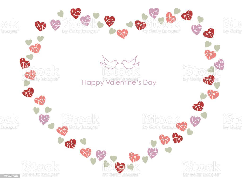 Ilustración de Marco En Forma De Corazón Para San Valentín ...