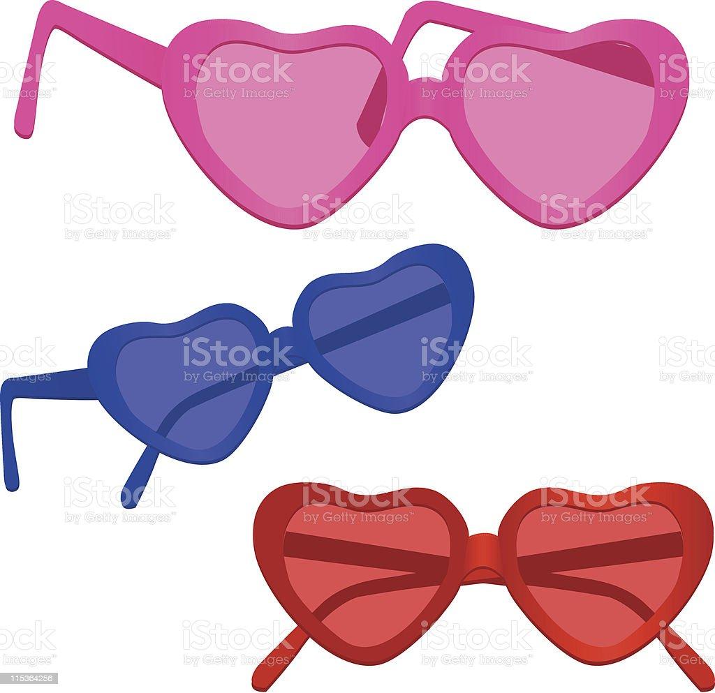 Heart-shaped Sunglasses vector art illustration