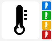 Heat Icon Flat Graphic Design
