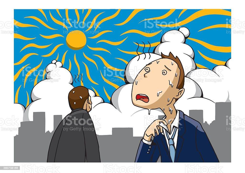 Heat Stroke vector art illustration