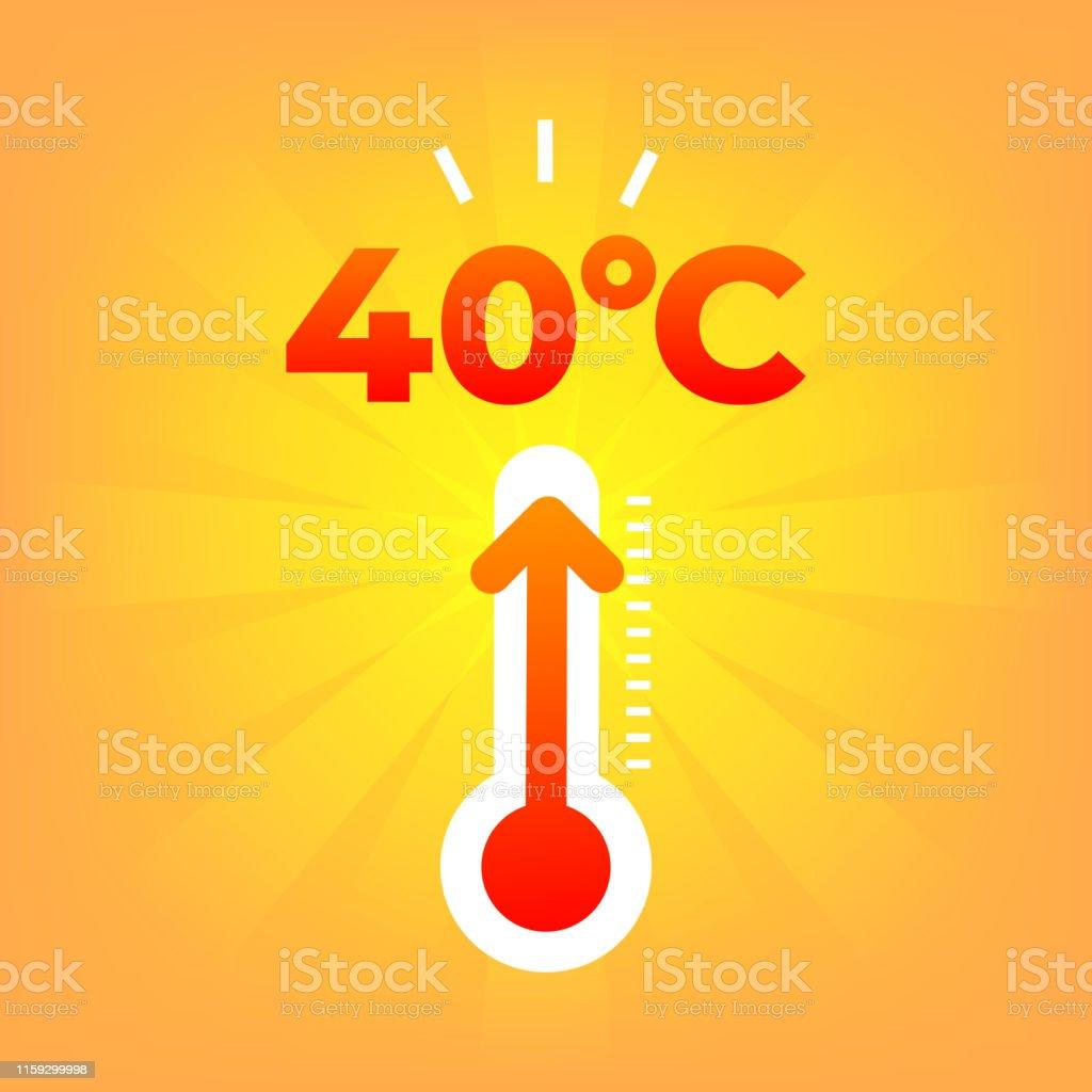 Wärmethermometer 20 Grad Celsius Sommerwetter Stock Vektor Art und ...